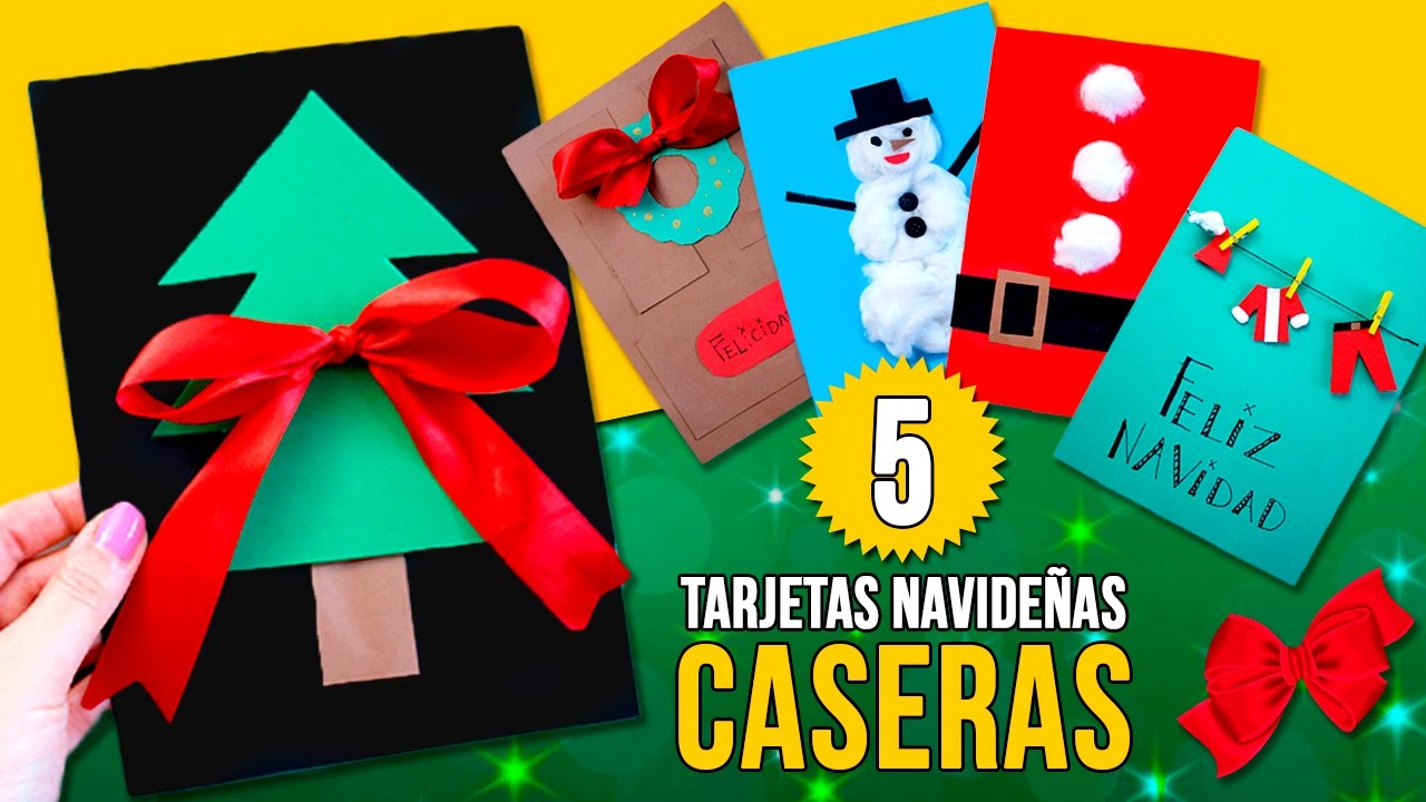 5 tarjetas de navidad hechas en casa por ni os - Tarjetas de navidad hechas por ninos ...