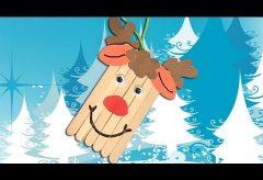 Cómo hacer un reno de Papa Noel / Manualidades en Navidad