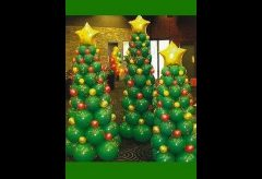 Hacer un árbol de Navidad con Globos – Manualidades para niñas y niños
