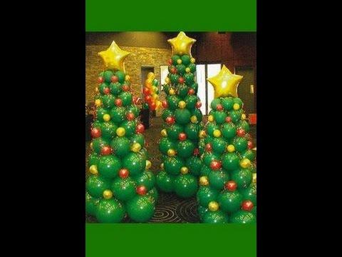 Hacer un rbol de navidad con globos manualidades para - Hacer munecos con globos ...