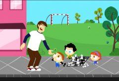 Jota Jota quiere aprender seguridad vial: jugando en la calle
