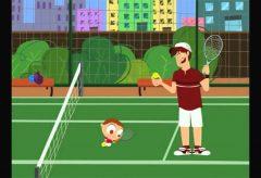 Jota Jota quiere hacer deporte: tenis