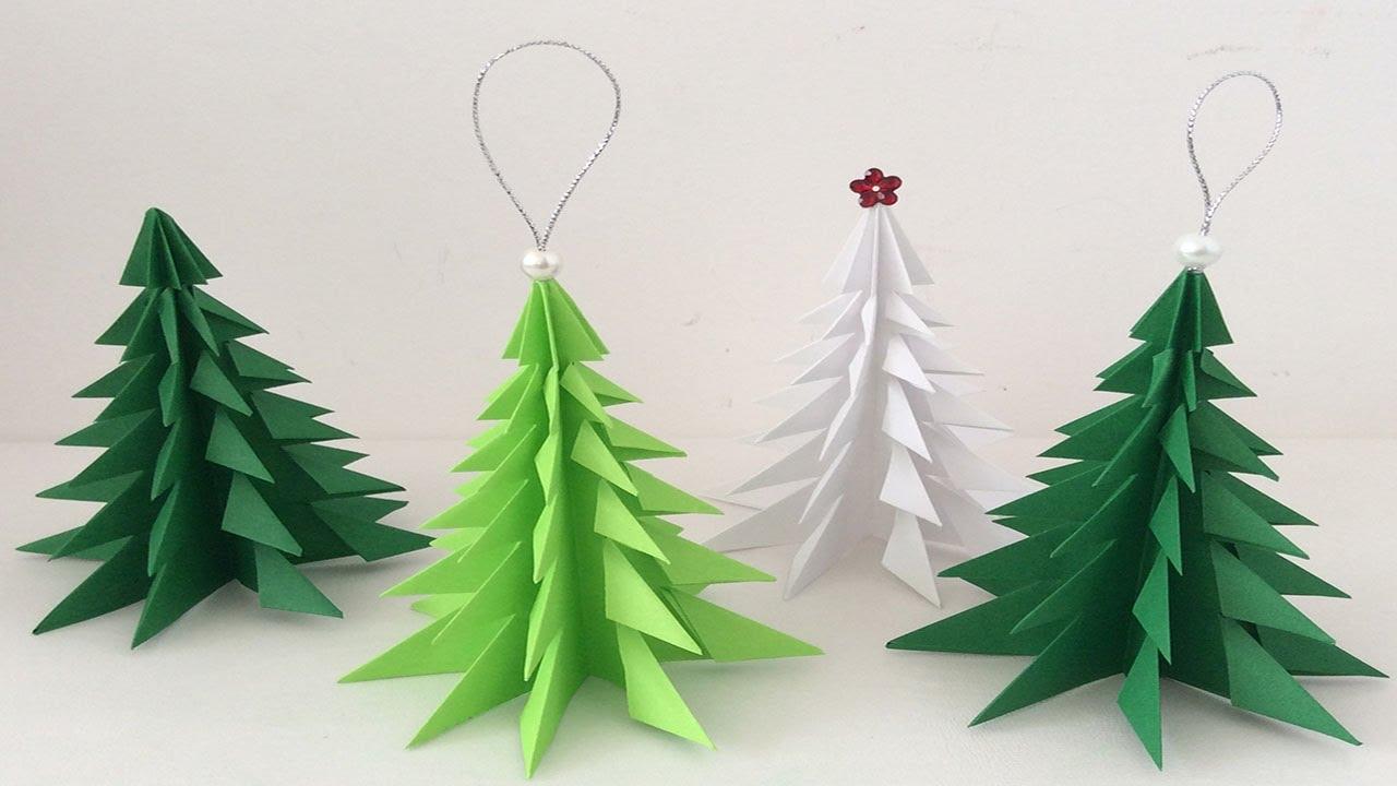 Manualidades para Navidad rbol de Navidad de papel Videos