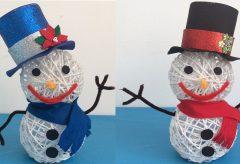 Manualidades para Navidad – Muñeco de Nieve