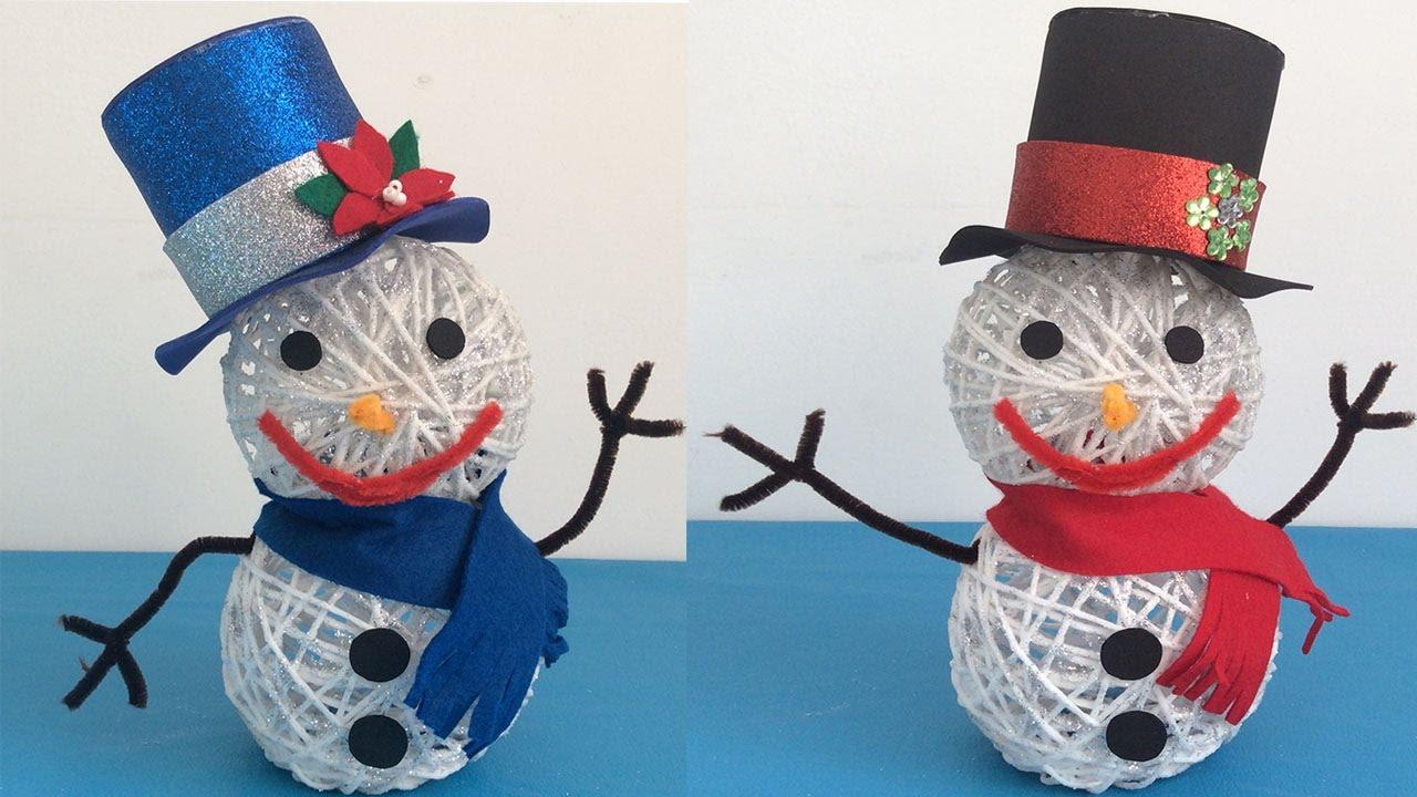 Manualidades Para Navidad Muneco De Nieve Videos Infantiles - Videos-de-manualidades-para-navidad