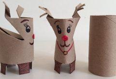 Manualidades para Navidad – Reno de Papel