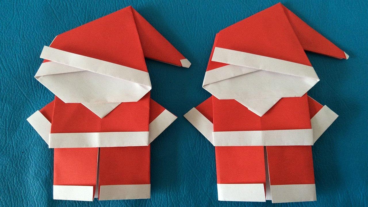 Manualidades para navidad santa claus de papel videos infantiles - Manualidades de navidad con papel ...