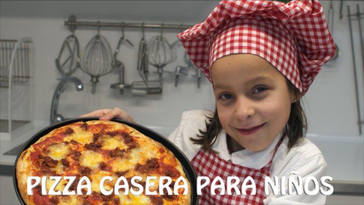 Pizza casera – Recetas para hacer con niños y niñas