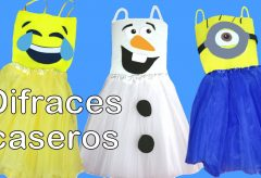 3 disfraces muy fáciles: Olaf, Minion y Emoticono / Carnaval para niñas y niños