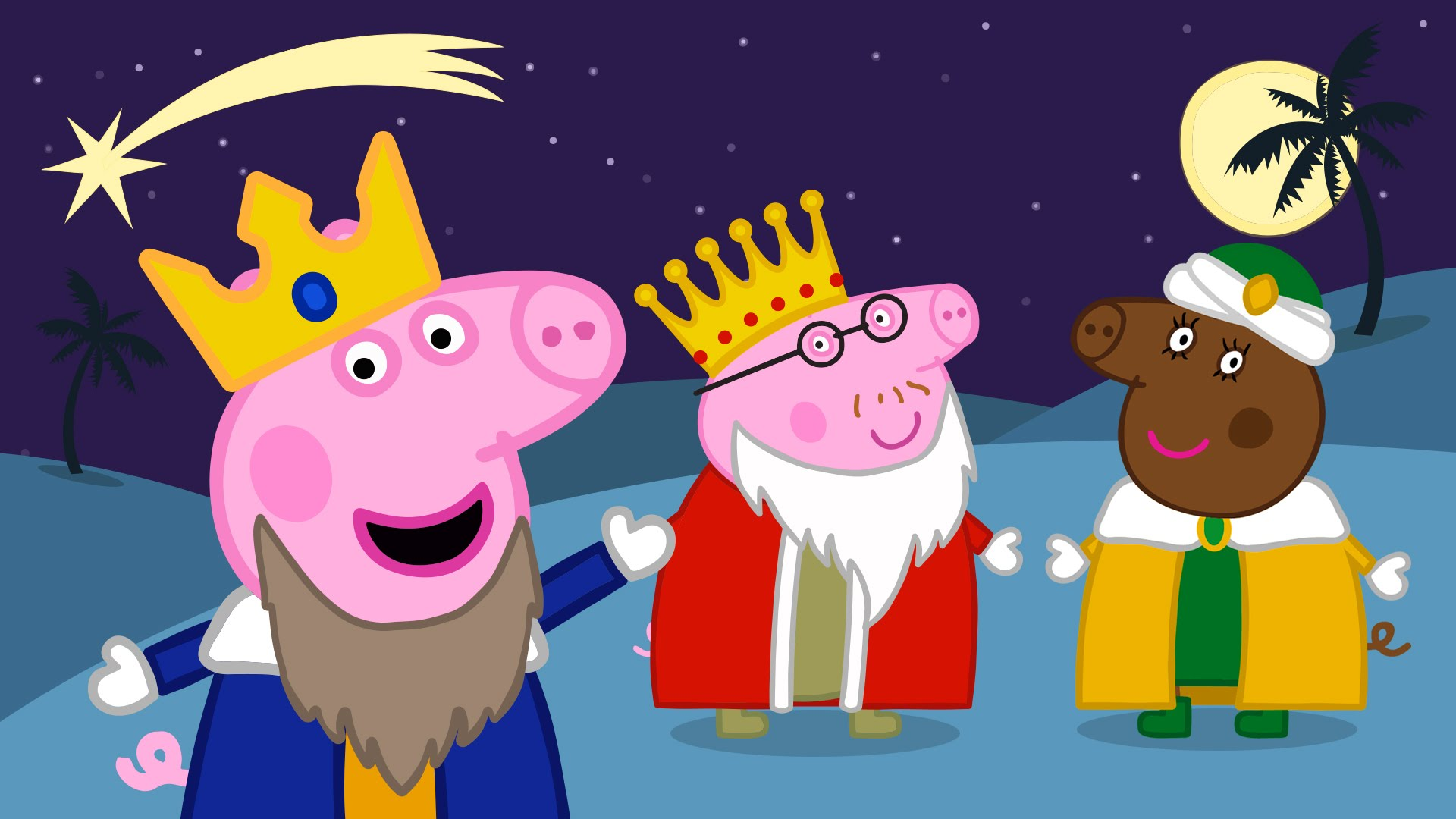 Peppa Pig Y Su Familia Se Disfrazan De Los 3 Reyes Magos