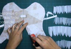 Alas de ángel  para disfraz con papel y cartón