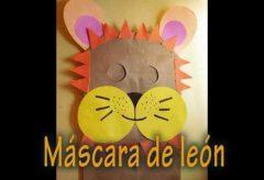 Cómo hacer una máscara de león para Carnaval. Disfraces caseros.