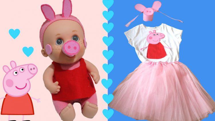 Disfraz de Peppa Pig casero para niñas y muñecas