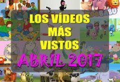 Los 10 vídeos infantiles gratis más vistos en abril-2017