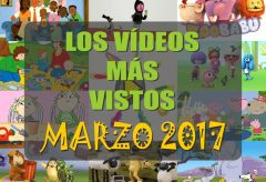 Los 10 vídeos infantiles gratis más vistos en marzo-2017