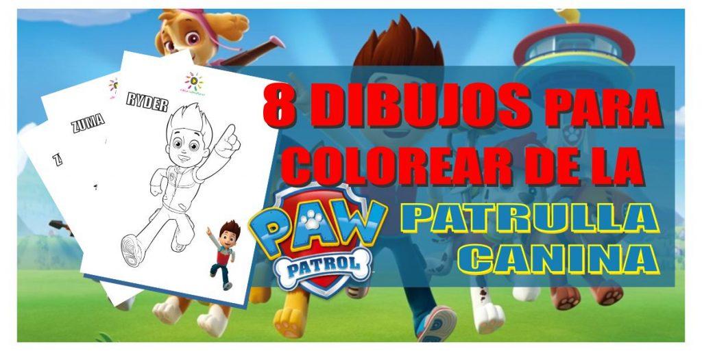 Ocho dibujos para descargar y colorear de la Patrulla Canina