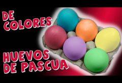 Cómo pintar de colores los Huevos de Pascua