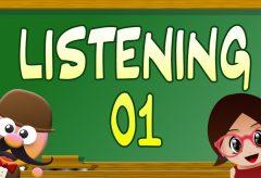Ejercicio de Listening 01 / Inglés para niñas y niños con Mr. Pea