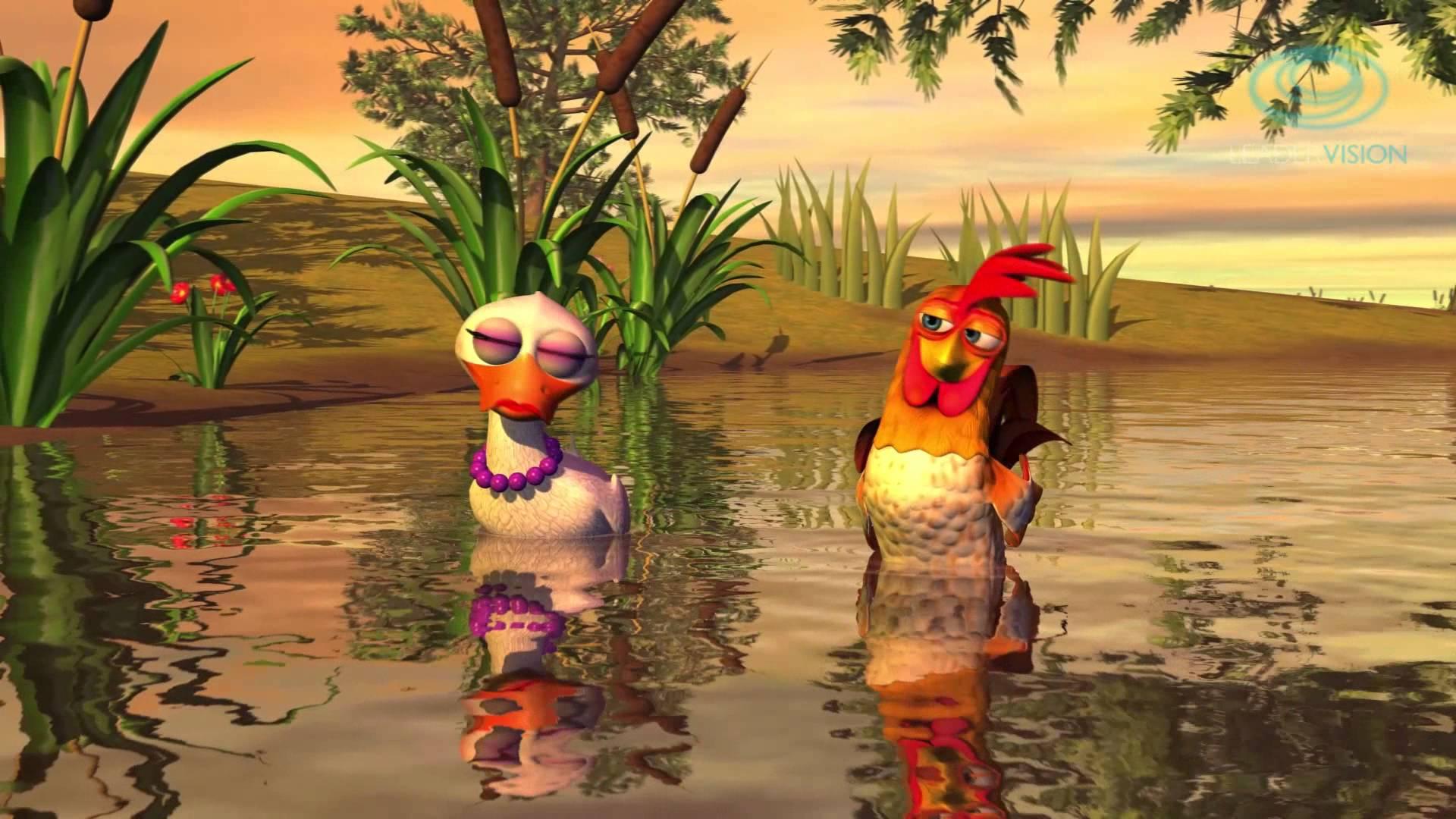 el gallo y la pata