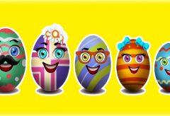 La familia Dedo cantada con huevos de Pascua – Canciones en inglés