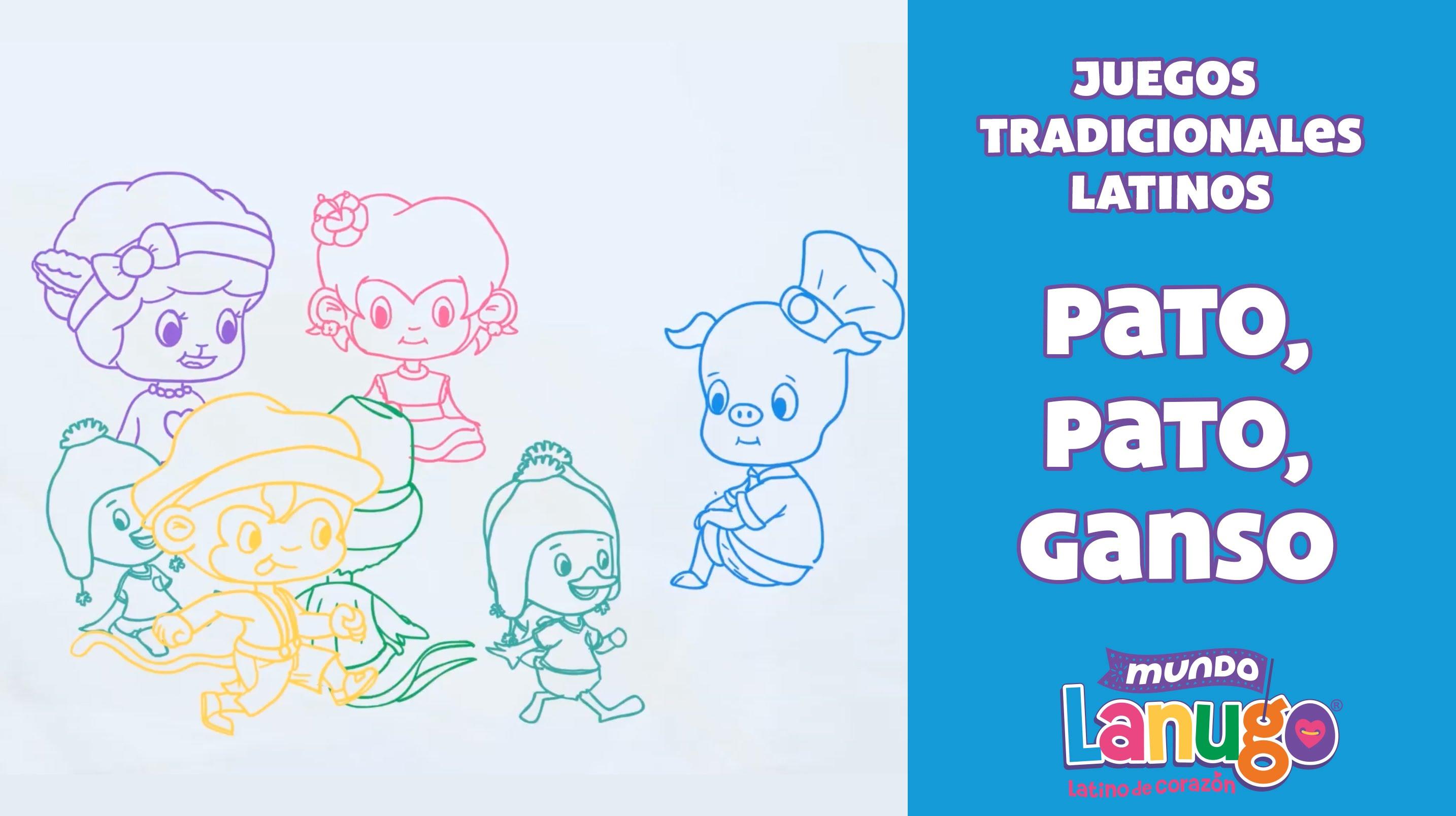 Pato Pato Ganso Juegos Tradicionales Latinos Ninas Y Ninos