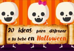 20 ideas en disfraces para tu bebé en Halloween