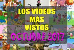 Los 10 dibujos y vídeos infantiles más visitados en octubre-2017 en Videos-Infantiles.net