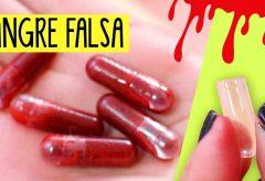 Cápsulas de sangre falsa comestible y otras ideas para Halloween