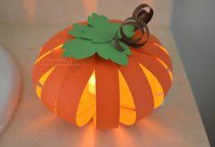 Cómo hacer una calabaza de papel iluminada / Decoración para Halloween