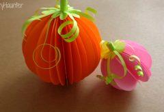 Hacer calabazas 3D /Decoración para Halloween