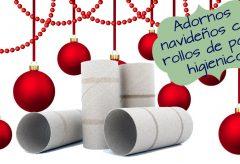 10 adornos navideños muy fáciles con rollos de papel higiénico