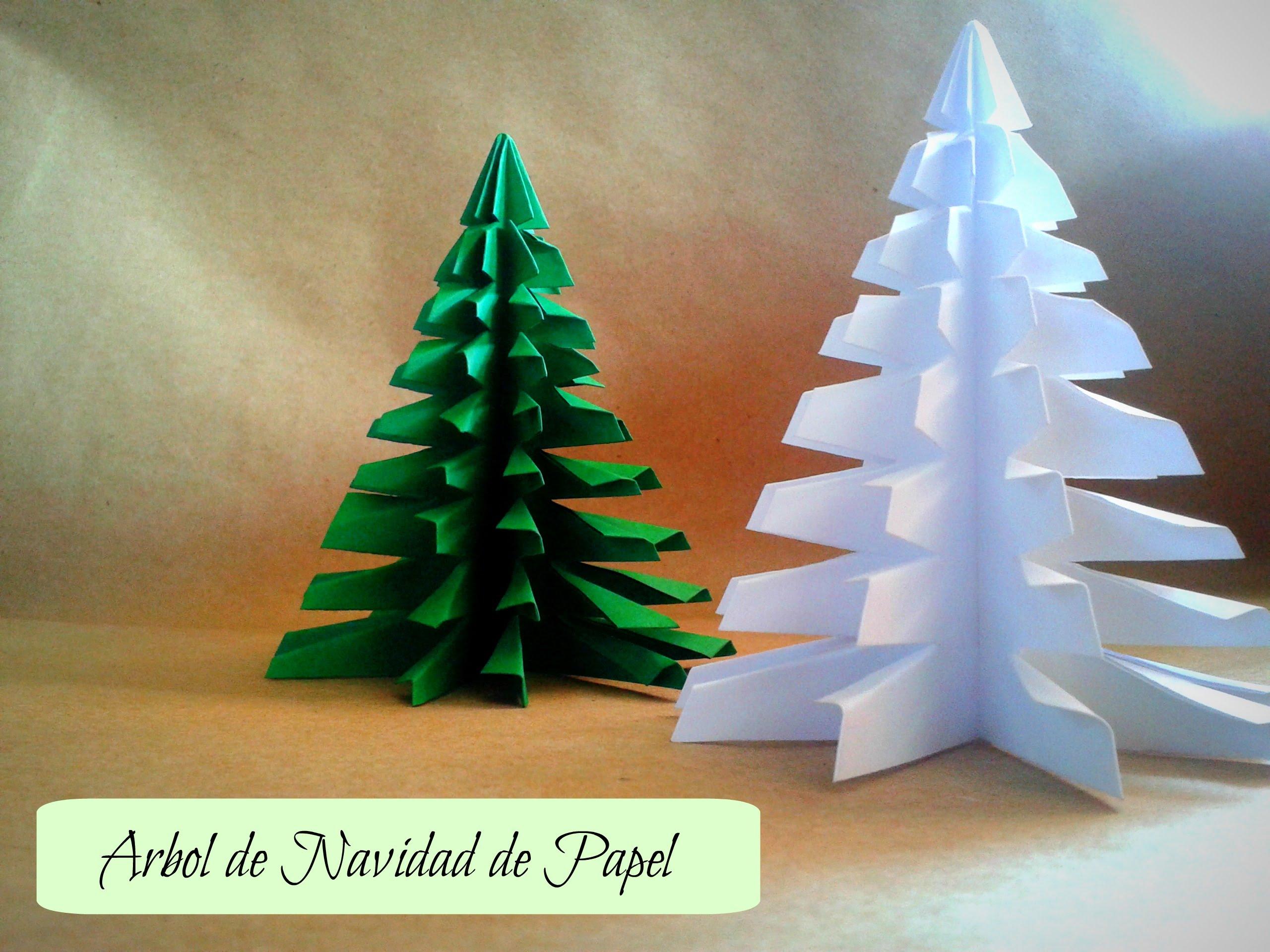 Hacer un rbol de Navidad con hojas de colores Navidad