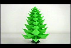 Hacer un árbol de Navidad de papel / Christmas tree origami