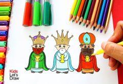 Cómo dibujar a los Tres Reyes Magos / Manualidades navideñas